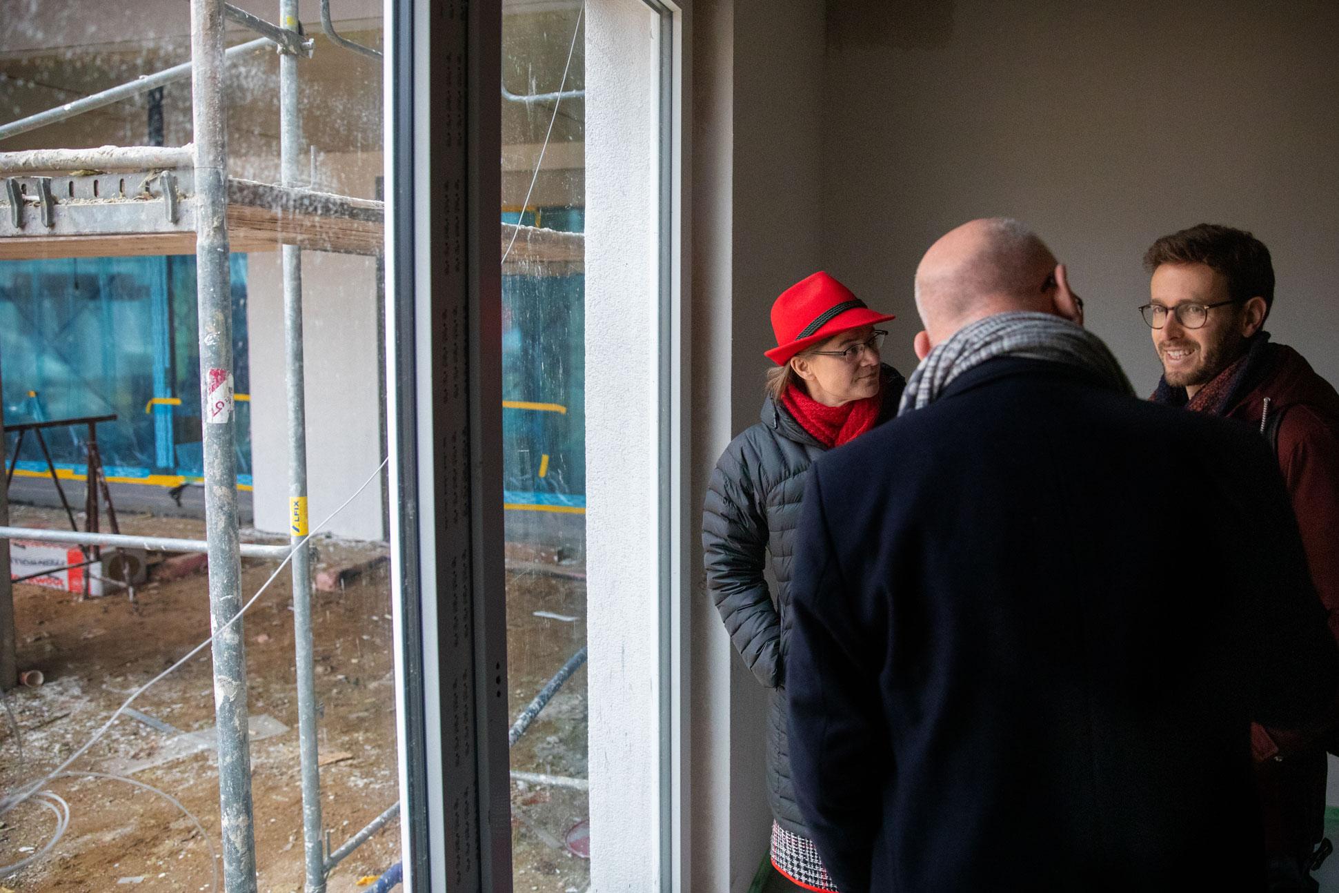 Besichtigung Der Bauarbeiten Im Seniorenheim Tobias Bank
